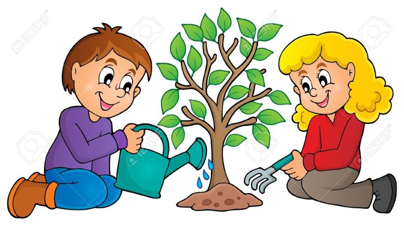 48150573-kids-planting-tree-theme-image-1-eps10-vector-illustration-stock-vector