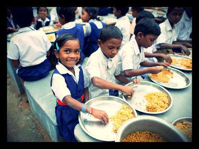 Kids feeding
