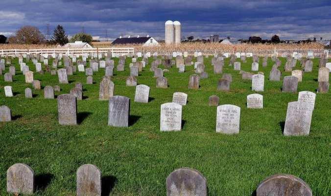 Amish hand dug graves