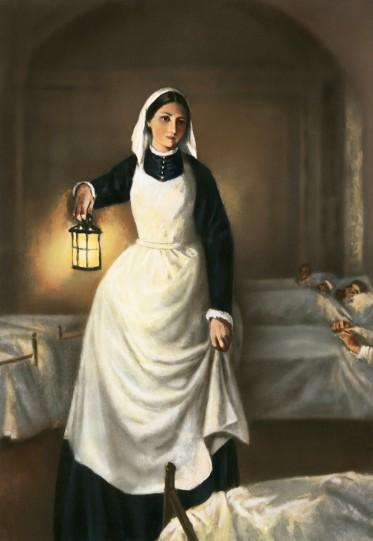 illustration-of-florence-nightingale-holding-lamp